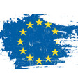 european union scratched flag vector image vector image
