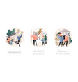family needs and communication abstract concept vector image vector image