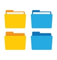 File folder in flat style vector image