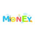 finances management money word concept banner vector image vector image