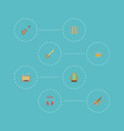 flat icons musical instrument lyre tambourine vector image vector image