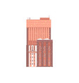 flat residential building icon vector image vector image