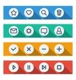 flat ui design elements - set basic web icons vector image