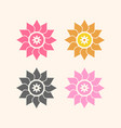 flower icon set eps8 vector image