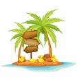 Four ducks on the island vector image vector image