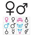 gender-symbols-1 vector image vector image