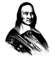 governor peter stuyvesant vintage vector image vector image