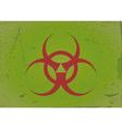 grunge background biohazard vector image vector image