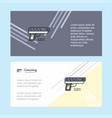 gun abstract corporate business banner template vector image