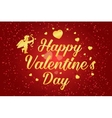 Happy Valentines Day lettering text vector image vector image