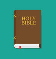 holy bible flat design icon vector image