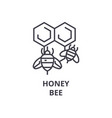 honey bee line icon outline sign linear symbol vector image vector image
