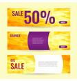 horizontal summer web banner summer big sale vector image vector image