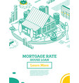 house loan or money investment to real estate vector image