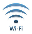 image of logotype wi fi connection with mirror vector image