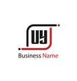 initial letter uy logo template design vector image