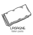 lasagne pasta outline icon vector image