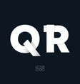 letter q and r template logo design vector image vector image