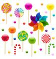 lollypop big set with pinwheel vector image