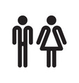 man and woman outline vector image