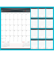 Monthly Calendar Planner for 2016 Year Set of 12 vector image