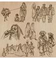 Natives - Hand drawn vector image vector image