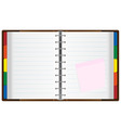 notebook organizer vector image vector image