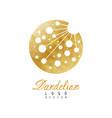 original logo design of dandelion flower symbol vector image
