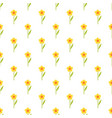 pattern with yellow flowers vector image vector image