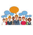 people talking cartoon vector image