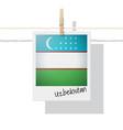 photo of uzbekistan flag vector image