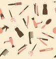 pink barber shop seamless pattern