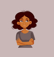 portrait an african woman with arms crossed vector image