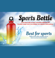 promotion banner with plastic sports bottle vector image vector image