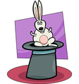 rabbit in hat cartoon vector image