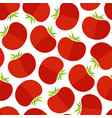 red tomato decorative seamless vegetable pattern vector image vector image