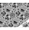Repeating Floral Background PatternGrey and black vector image vector image