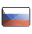 russia flag on white background vector image vector image