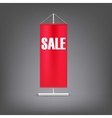 Sale banner Red advertising stand vector image vector image