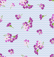 Seamless floral patter with little pink flowers vector image vector image