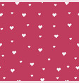 seamless heart pattern on pink vector image