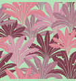 seamless pattern with tropical palms vector image