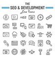 seo and development line icon set business signs vector image vector image