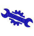 service wrench icon grunge watermark vector image vector image