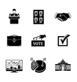 Set of ELECTION icons - votebox handshake vector image vector image