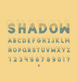 shadow font alphabet vector image vector image