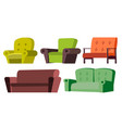 sofa chair set home furniture living vector image