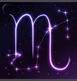 space symbol of scorpio of zodiac and horoscope vector image vector image