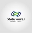 static waves logo template vector image vector image