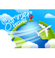 summer travel air travel vector image